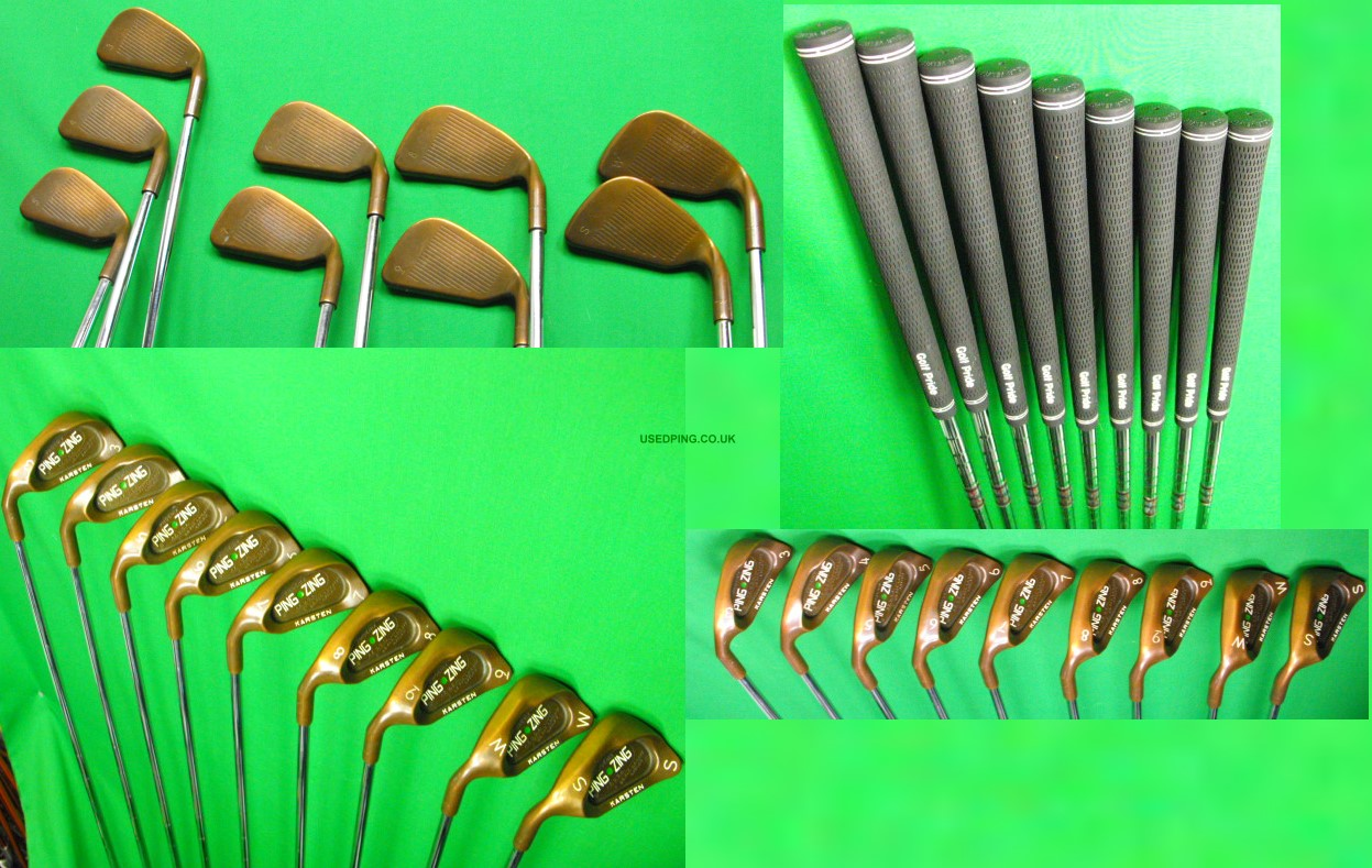Used Ping Zing And Zing2 Iron Sets For Sale