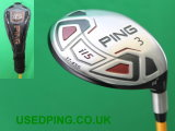 Used PING G15, G15 DRAW, I15 and K15  Fairway Woods for Sale.